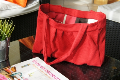 La sac, intérieur et extérieur.