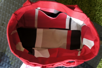 L'intérieur du sac.
