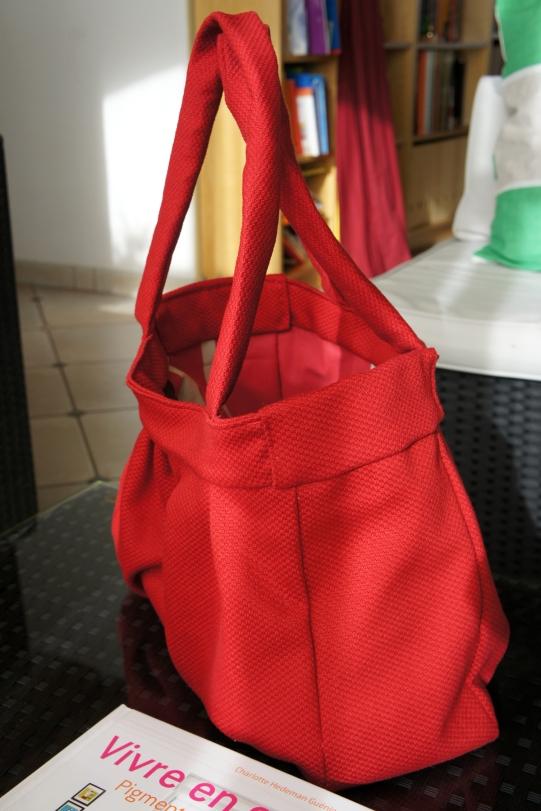 Le sac, vu de profil.