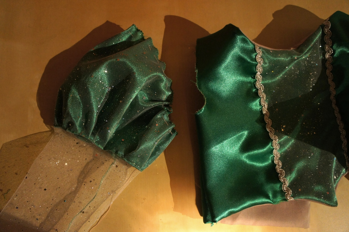 Ariel, la Petite Sirène: sa robe verte revisitée.