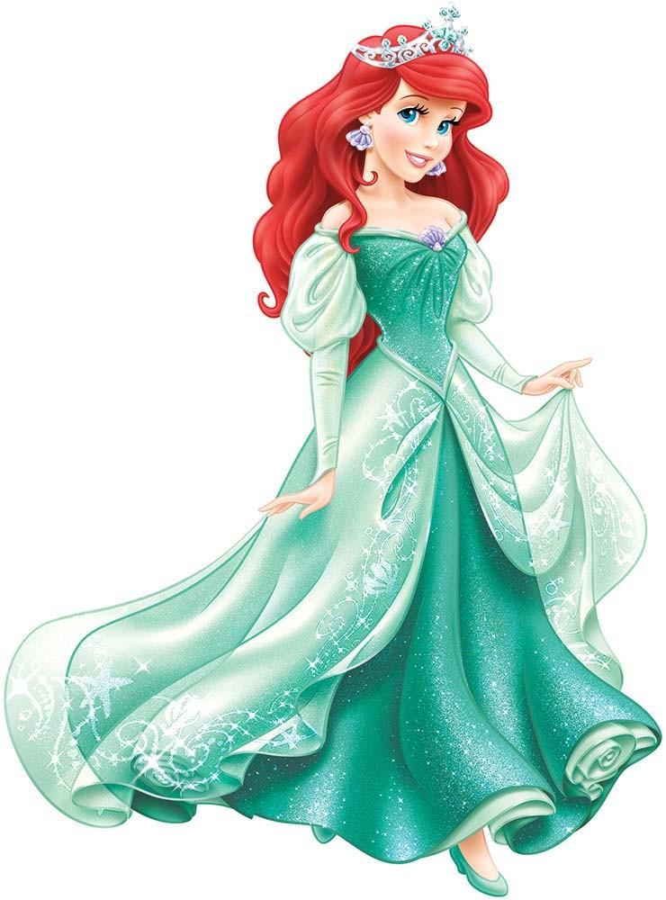 Ariel la petite sir ne sa robe verte revisit e impression de liberty - Ariel petite sirene ...
