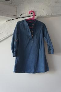 Robe d'hiver en jean, taille 4-5 ans.